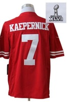 wholesale cheap discount football 2013 Super Bowl  jerseys 7 KAEPERNICK Red (Limited) jerseys free shipping