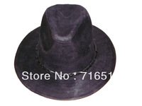 2013 Fabric  cowboy hats with fabric material and traditional style and Black color an the brim 6CM-8CM and plastic bags