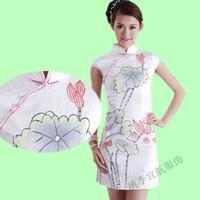 Free Shipping! Cheongsam fashion 2012 chinese style vintage elegant formal dress evening dress slit