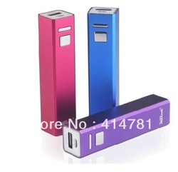 Free shipping !!! power bank 2600 mAh 2 usb charger extermal battery pack for iphone ipod mobile phone 4pcs/lot(China (Mainland))