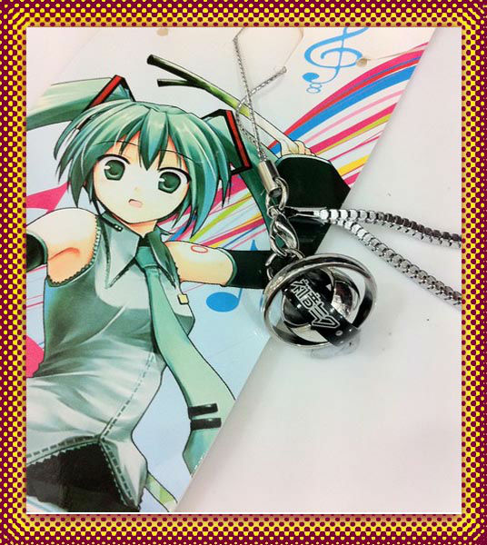 Hatsune Miku Straps Rotatable neck lanyard Mobile Phone Chains MP3 MP4 ID card etc holder three deck ring jewelry(China (Mainland))