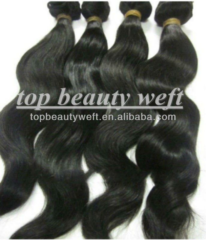 Top Grade Pure Natural Rollar Package Super Body Wave Virgin Peruvian Hair Bundles(China (Mainland))
