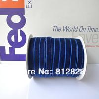 3/8'' 10mm Navy Blue Velvet Ribbon 50 Yards/Spool Wholesale Free Shipping