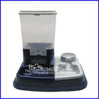 Free shipping Automatic pet feeder water dispenser dog food bowl cat bowl grain bucket kn0305