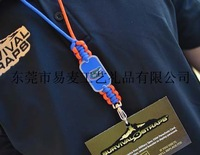 2013 hotest customized made of rope and alloy name plate ncaa team life-saving keychain