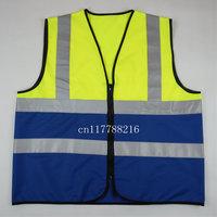 Hi Vis Safety Vest Reflective Vest-Size S M L XL XXL 3XL 4XL-Bicolor