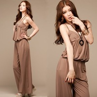 2013 New Arrive korean style women&#39;s strap elegant long jumpsuit leisure sleeveless romper free shipping