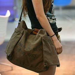 2012 my story bag canvas bag messenger bag women's bag Army Green 3(China (Mainland))