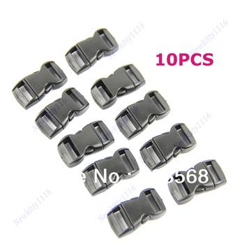 D19Free Shipping 10PCS/lot Buckles For Umbrella Paracord Bracelets Black Side Release Buckles