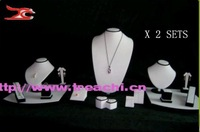 Free Expedited Shipping jewelry display incount showcase for 37 meter counter kit white and black