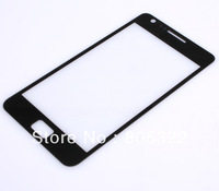 Free shipping , 10pcs NEW Black Outer LCD Glass Display Screen Lens + tools for Samsung Galaxy S II S2 i9100