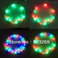 220V 3528 LED RGB Strip 10w/M Flexible Waterproof 144LED/M Colorful Strip 5M/lot+ Controler+ Free ship