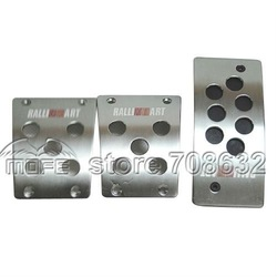 FREE SHIPPING Aluminum Ralliart Non-Slip Auto Pedal Pad for MT Mitsubishi(China (Mainland))