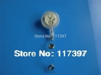 Free Shipping  wholesale promoion ID Badge holder Reel, Medical, Nurse, Transparent White  color 20  pcs/lot