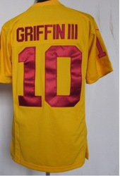 Free shipping fee , Cheap #10 Robert Griffin III yellow 2012 Men&#39;s Elite Football Jersey ,ReDsKiNs American football jerseys(China (Mainland))