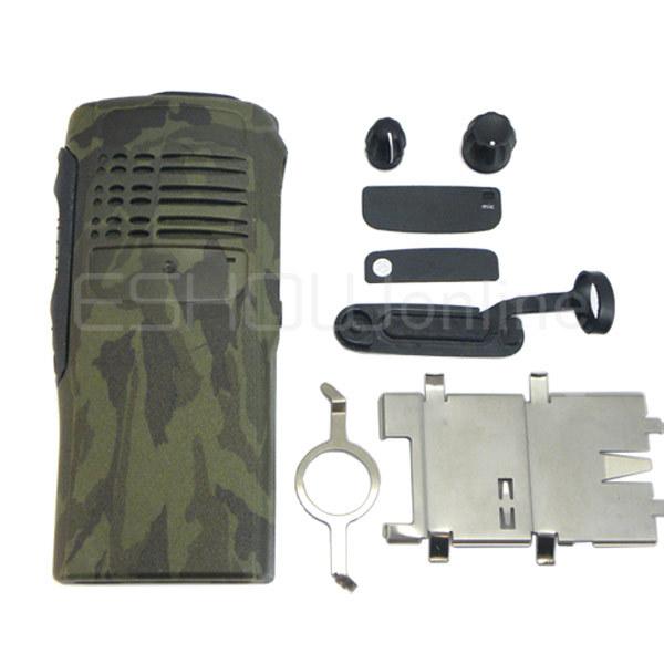 Service Parts Case Refurb Kit For Motorola GP328 340 Camouflage Walkie talkie 2 way radio interphone J0135M Fshow(China (Mainland))