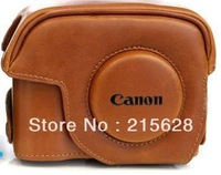 Free shipping best quality fashion PU Leather Camera Case bag special for Canon G12 G15 G1X