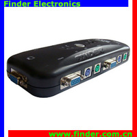 2 way PS/2 KVM Manual Switch Which No Software required PC Selection Via Push Buttons, or Hot Keys