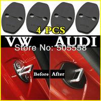 4pcs/set Door Striker Cover Lock Catch Protect Cover For VW Volkswagen Tiguan Golf 6 Passat Polo AUDI Q5 Q3