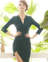 Женское платье 2013 Fashion Slim Waist Single Breasted Chiffon Shirt Women One-piece Dress For Sale