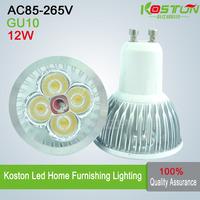 10X High power GU10 4x3W 12W AC85-265V  led Spotlight led bulb led lamp  warm/pure/cool white