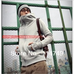 2013 Free shipping Autumn and winter explosion models men's casual jacket cardigan men hooded sweater / gloves hoodies 4 colors(China (Mainland))