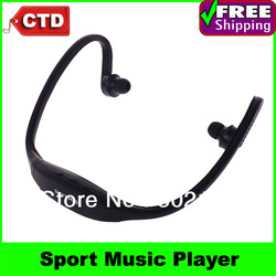 Free Shipping Wireless Headset Style Sport MP3 Player, TF Card MP3 Player, Digital Music Player(China (Mainland))