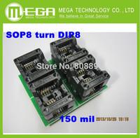 5 PCS /LOT    SOP8  turn DIP8    SOIC8 to DIP8   IC socket Programmer adapter Socket