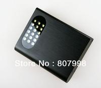 Safe shipping,Aluminum alloy battery charger 18650 box   DIY 4 lithium battery box  LED Lithium double USB