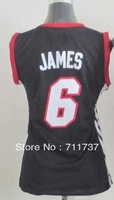 Free Shipping,Wholesale Basketball Jersey,#6 LeBron James Women's Jersey,Embroidery logos,Size S-2XL