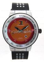 Men's SHAO PENG Quartz Date Black Outer Ring And White Polka Dot Wrist Watch