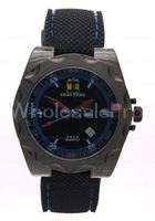 Men's SHAO PENG Quartz Date Black and Blue Dial Wrist Watch