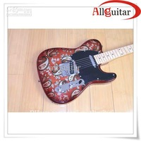 Red Paisley body te le Guitar Maple fretboard China Guitar
