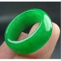 Natural Malay jade ring gift