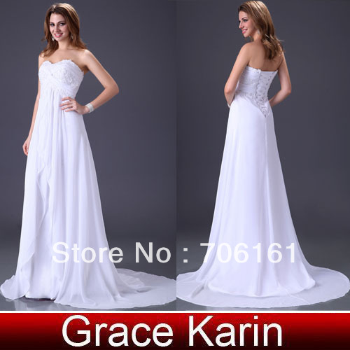 2013New Arrval ! Special Stock Ivory Strapless Evening Dress Bridal Gown Prom Dress CL2526(China (Mainland))
