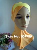 a541 pure color muslim hijab cotton muslim  inner caps fashion muslim women's hat underscarf wholesale price