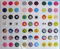 Hot sale / cartoon fashion mobile phone keypad paste / each 6 pieces ( 1152 keys per packet paste =192 set)