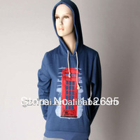 2013 Wholesale Single black solid color cotton no zipper hoodie jacket