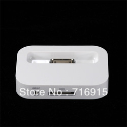 For Apple iphone 4 4g USB Sync Dock Charger Charging Station Holder Cradle New Black White with Retail box(China (Mainland))