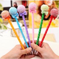 Hotsale! New pollipop pen/Ball pen/ Fashion pen with different colors wholesale 100pcs/lot Free Shipping
