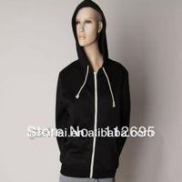 2013 Wholesale Single grey solid color cotton popular couple hoodie