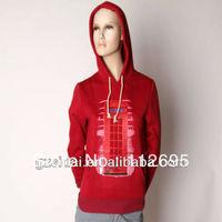 Wholesale Single red solid color cotton bulk  ladies  women  long sleeves  hoodies