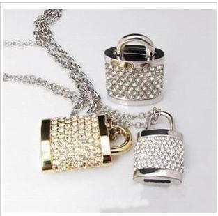 Jewelry U disk retainer U disk swarovski crystal usb flash disk creative gifts U disk personality usb flash driv4GB/8GB/16GB/32e