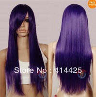 2013   popular fashion styles New Dark Purple Long Wig
