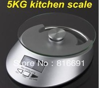 New High-precision sensors glass surface 5KG/ 1g electronic kitchen scale