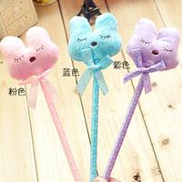 Hotsale! New plush rabbit pen/Ball pen/ Fashion pen with different colors wholesale 100pcs/lot Free Shipping