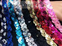 2014 new Sequined braid ribbon S sequin paillette applique lace Clothes accessories 1.5cm