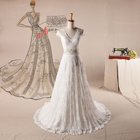 2013 new arrival wedding dress formal dress a V-neck vintage bag exquisite beaded bride wedding dress