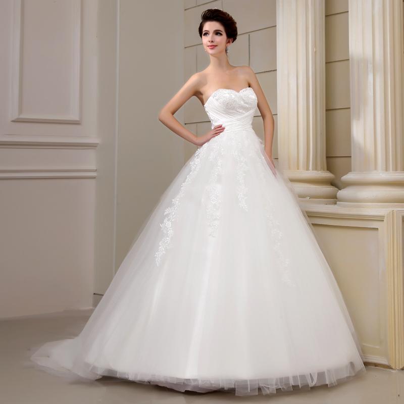 Wedding Dress 2013 Heart Tube Top Princess Dress Bandage Qi In Wedding Lace S