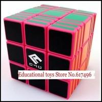 C4U Full Fuction magic cube 337 high quality cube 3x3x7 magic toys-pink version